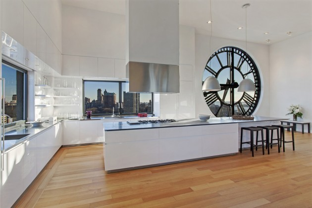 Penthouse-Brooklyns-Iconic-Clock-Tower-Building-Modern-Bright-Kitchen